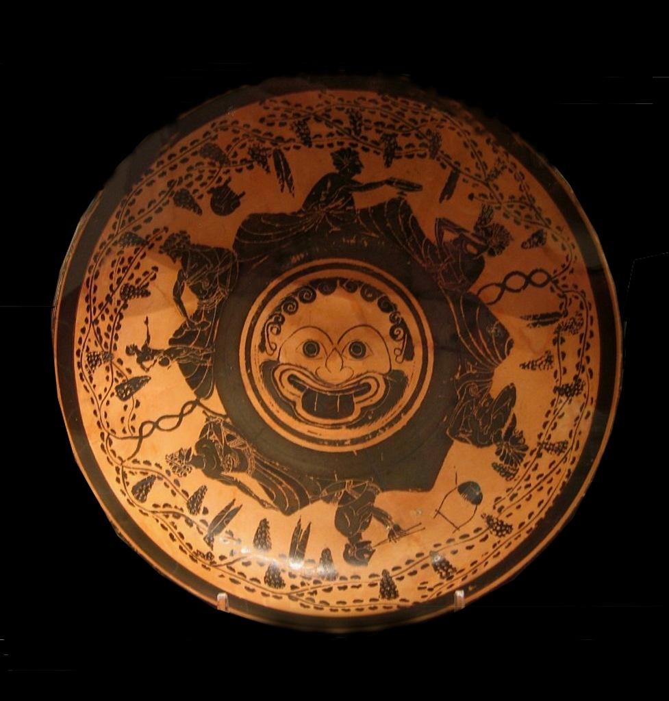 Античная чаша с изображением симпосиума