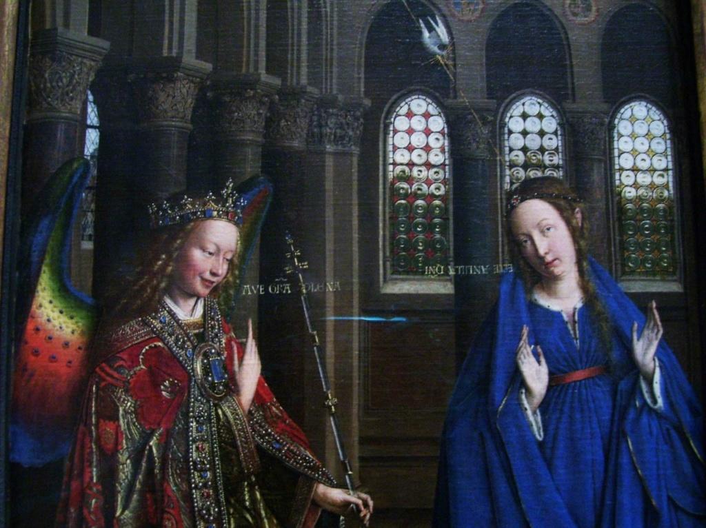 """Ян ван Эйк - """"Благовещение"""", около 1434–1436. Национальная галерея. Вашингтон.."""