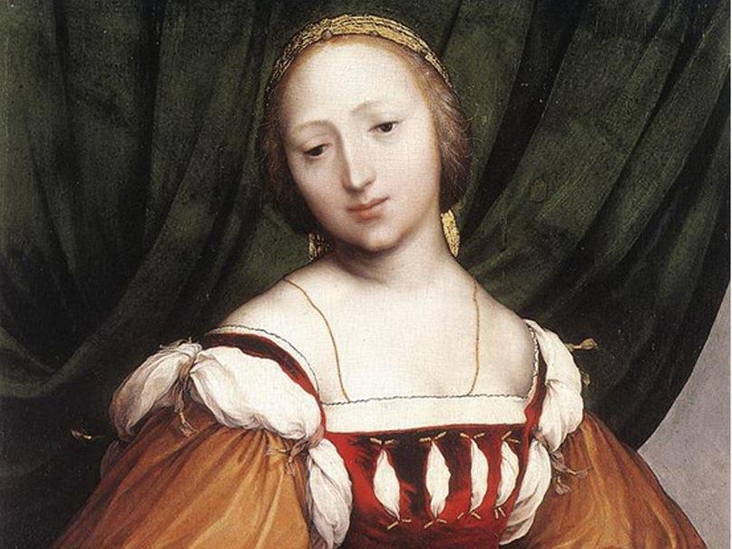 Ганс Гольбейн Младший. Лаис из Коринфа. 1526. Фрагмент картины