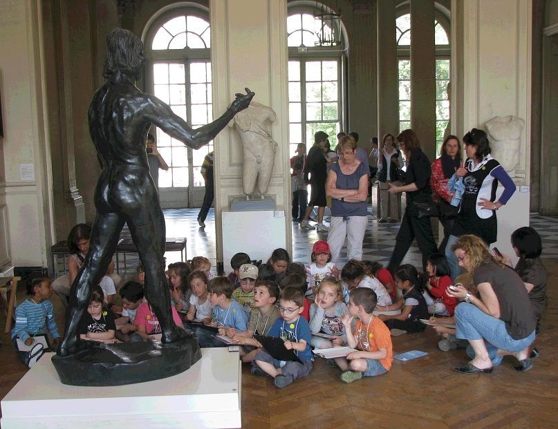 Музей Огюста Родена в старинном особняке, недалеко от Дома инвалидов...