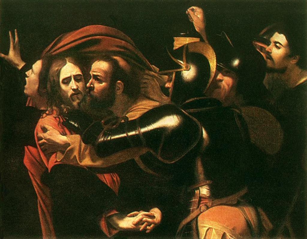 """Караваджо. """"Взятие Христа под стражу"""" из Музея западного и восточного искусства в Одессе. 1600-е годы."""