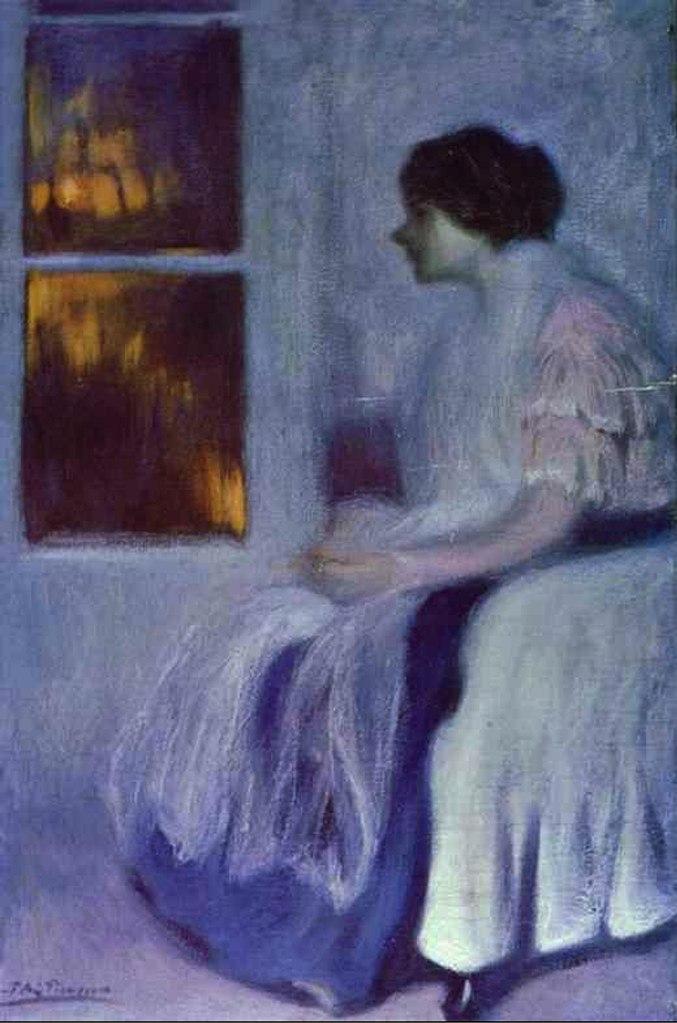 """Пабло Пикассо. """"Портрет сестры Лолы"""". 1899. Влияние живописи Тулуз-Лотрека имеет свое, как всегда парадоксальное, объяснение: """"Хорошие художники копируют, великие художники воруют"""".."""