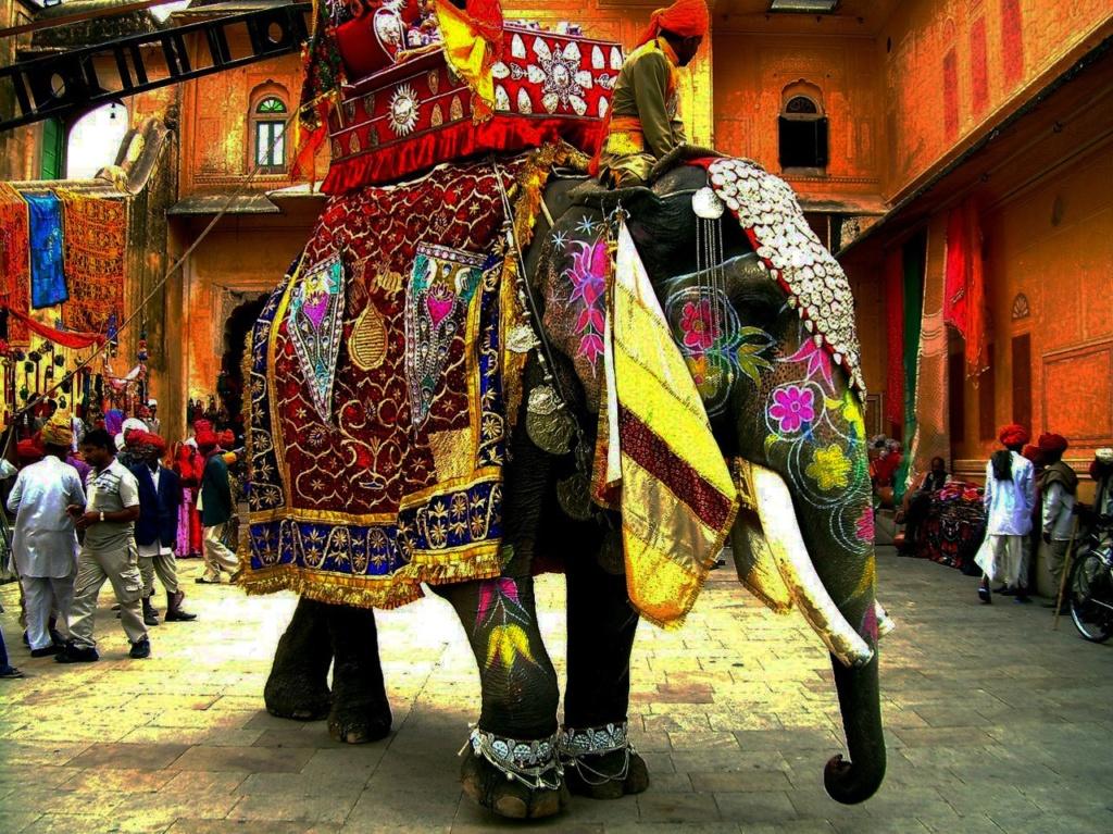 В Индии слон пользуется большим почтением...
