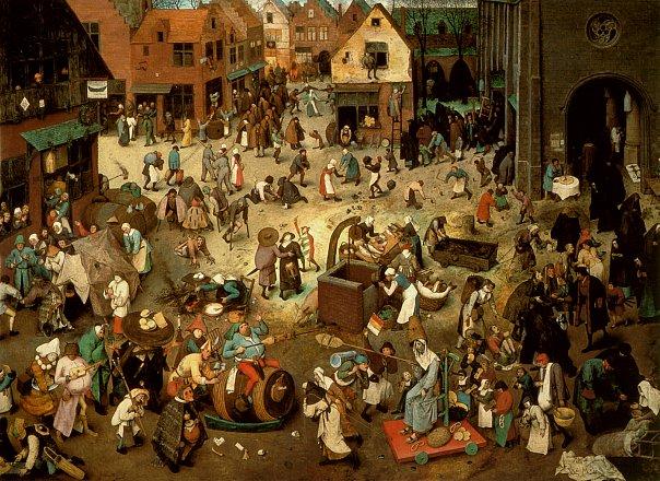 Питер Брейгель Старший (Мужицкий). Битва Масленицы и Поста. 1559.