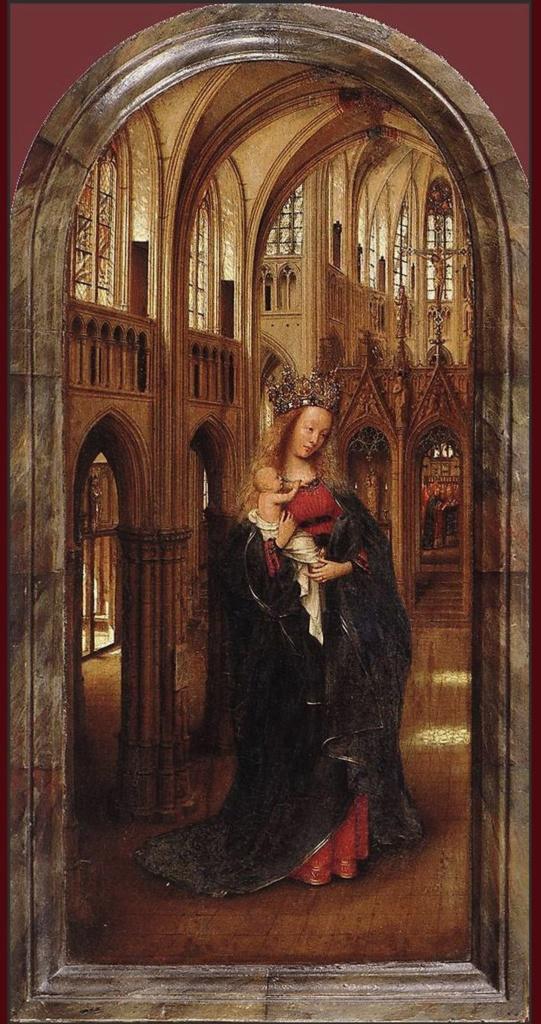 """Ян ван Эйк - """"Мадонна в Церкви"""", ок. 1425.  Государственные музей, Берлин."""