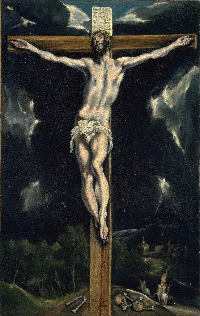 """Толедский собор. Ризница. Эль Греко. """"Христос на кресте"""". 1614."""