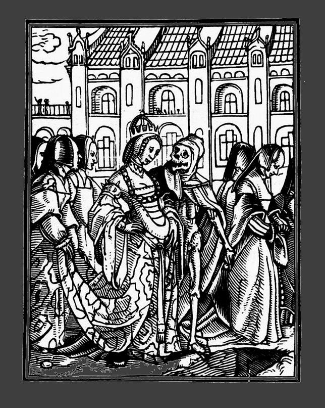 """Ганс Гольбейн Младший. """"Пляска Смерти"""". 1526 год - создание. 1538 - публикация. """"Императрица"""""""