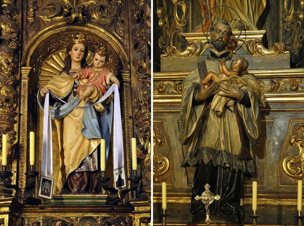 Кафедральный собор Барселоны. Алтари боковых капелл (фрагменты).