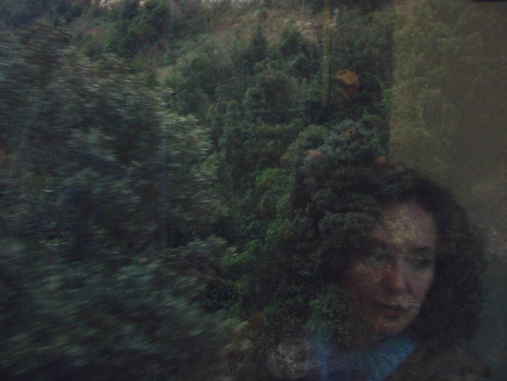 Отражение лица нашей Алены, ставшего под воздействием впечатлений. ликом...