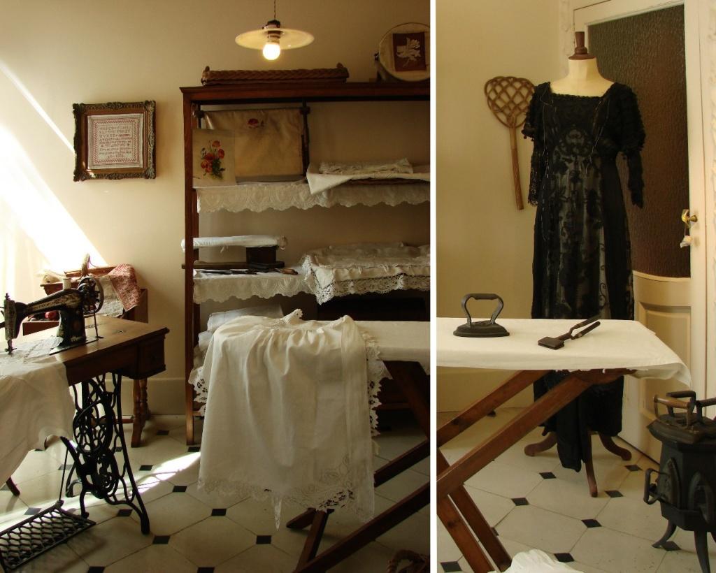 Каса Мила. Демонстрационная квартира, что оформлена в стиле 20-х годов XX века. Помещение для шитья и глажки.