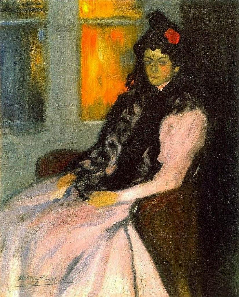 """Пабло Пикассо. """"ПортретЛолы - сестры художника"""". 1899."""