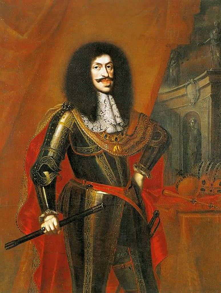 Портрет императора Священной Римской империи Леопольда I, за которого в 1666 году вышла замуж Маргарита по устоявшейся традиции габсбургской династии. Леопольд - ее дядя по материнской линии и кузен отца (двоюродный дядя) по отцовской.