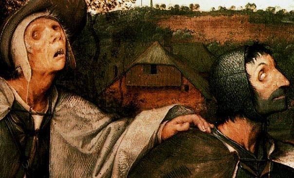 """Питер Брейгель Старший. """"Слепые"""".1568. Фрагмент картины. Национальная галерея и музей Каподимонте в Неаполе"""
