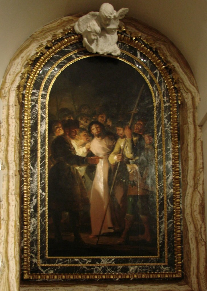 """Толедский собор. Ризница. Франсиско Гойя. """"Взятие Христа под стражу"""". 1788 год. Написана через два столетия после картины Эль Греко, когда Испанская инквизиция все свела к ПРЕДАТЕЛЬСТВУ."""