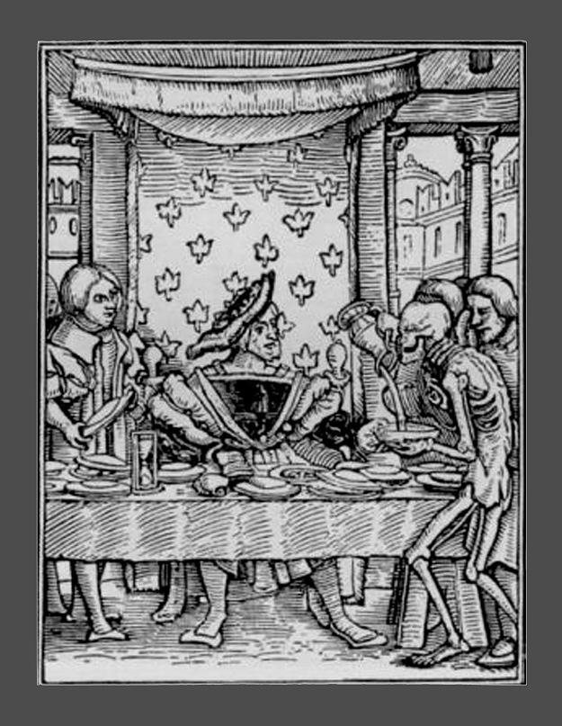 """Ганс Гольбейн Младший. """"Пляска Смерти"""". 1526 год - создание. 1538 - публикация. """"Король"""""""