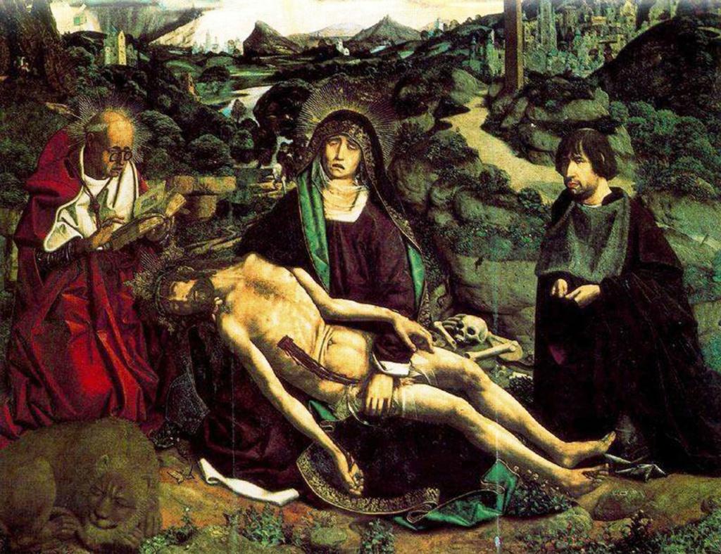 """Бартоломе Бермехо. """"Пьета Деспла"""", 1490. Музей кафедрального собора Барселоны."""