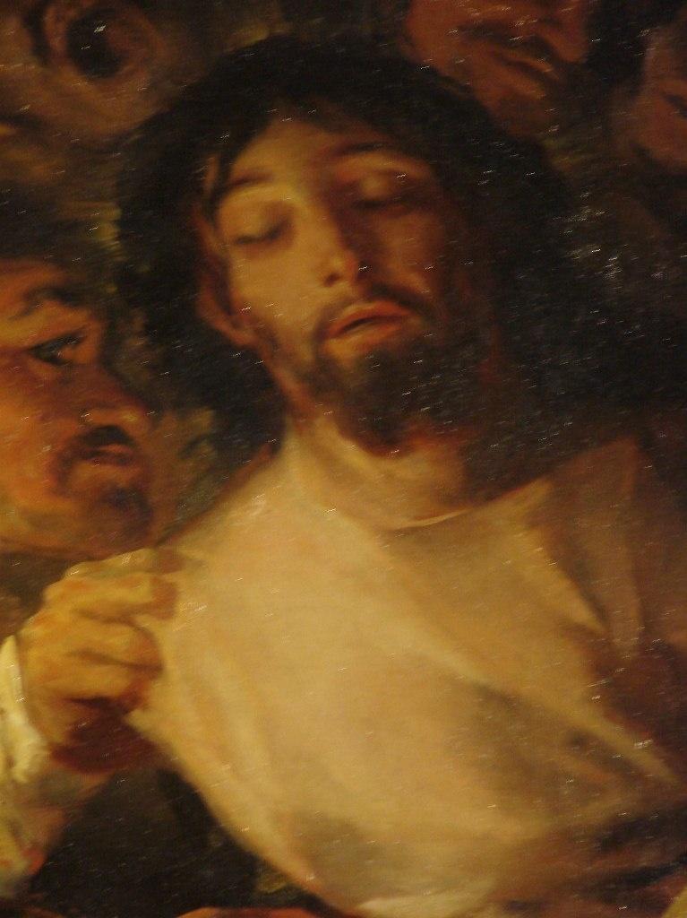 """Толедский собор. Ризница. Франсиско Гойя. """"Взятие Христа под стражу"""". 1788 год Написана через два столетия после картины Эль Греко, когда Испанская инквизиция все свела к ПРЕДАТЕЛЬСТВУ."""