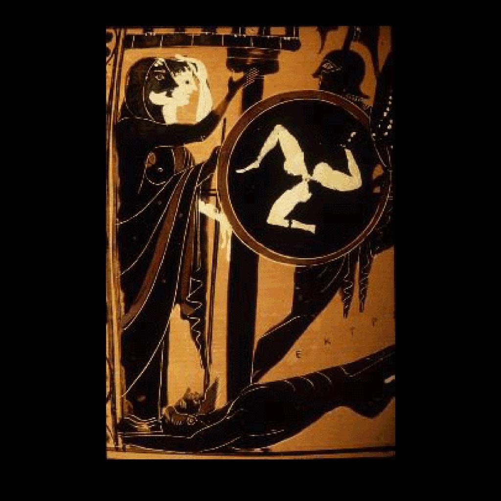 """Античная ваза. """"Афина вручает Ахиллу щит победителя"""""""