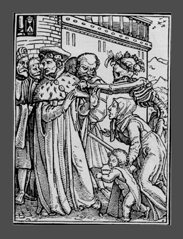 """Ганс Гольбейн Младший. """"Пляска Смерти"""". 1526 год - создание. 1538 - публикация. """"Герцог"""""""