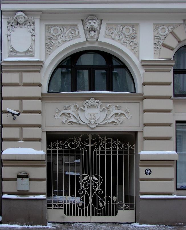 Рига. Ул. Элизабетес, дом 33. Арх. М.О. Эйзенштейн. 1901. Фото Марины Бреслав