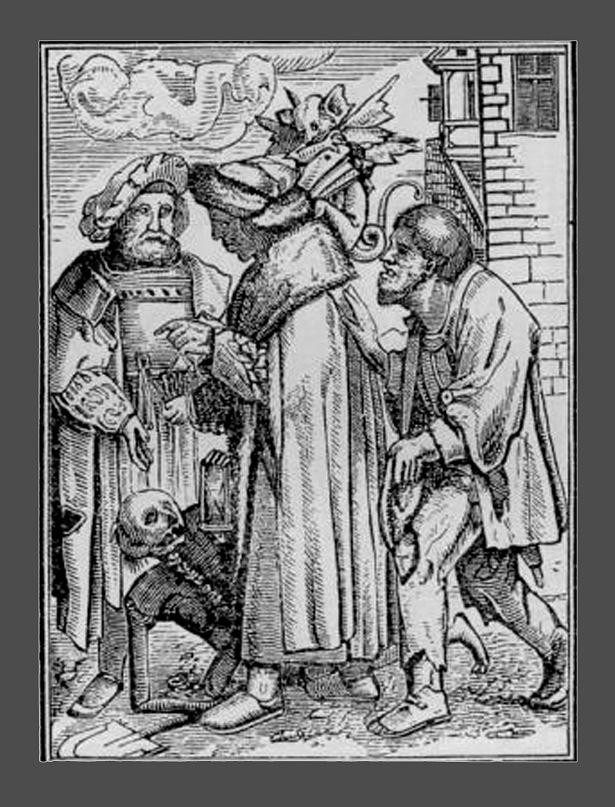 """Ганс Гольбейн Младший. """"Пляска Смерти"""". 1526 год - создание. 1538 - публикация. """"Сенатор"""""""