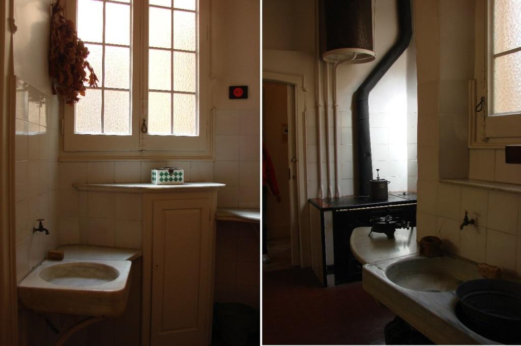 Каса Мила. Демонстрационная квартира, что оформлена в стиле 20-х годов XX века. Кухонные помещения.