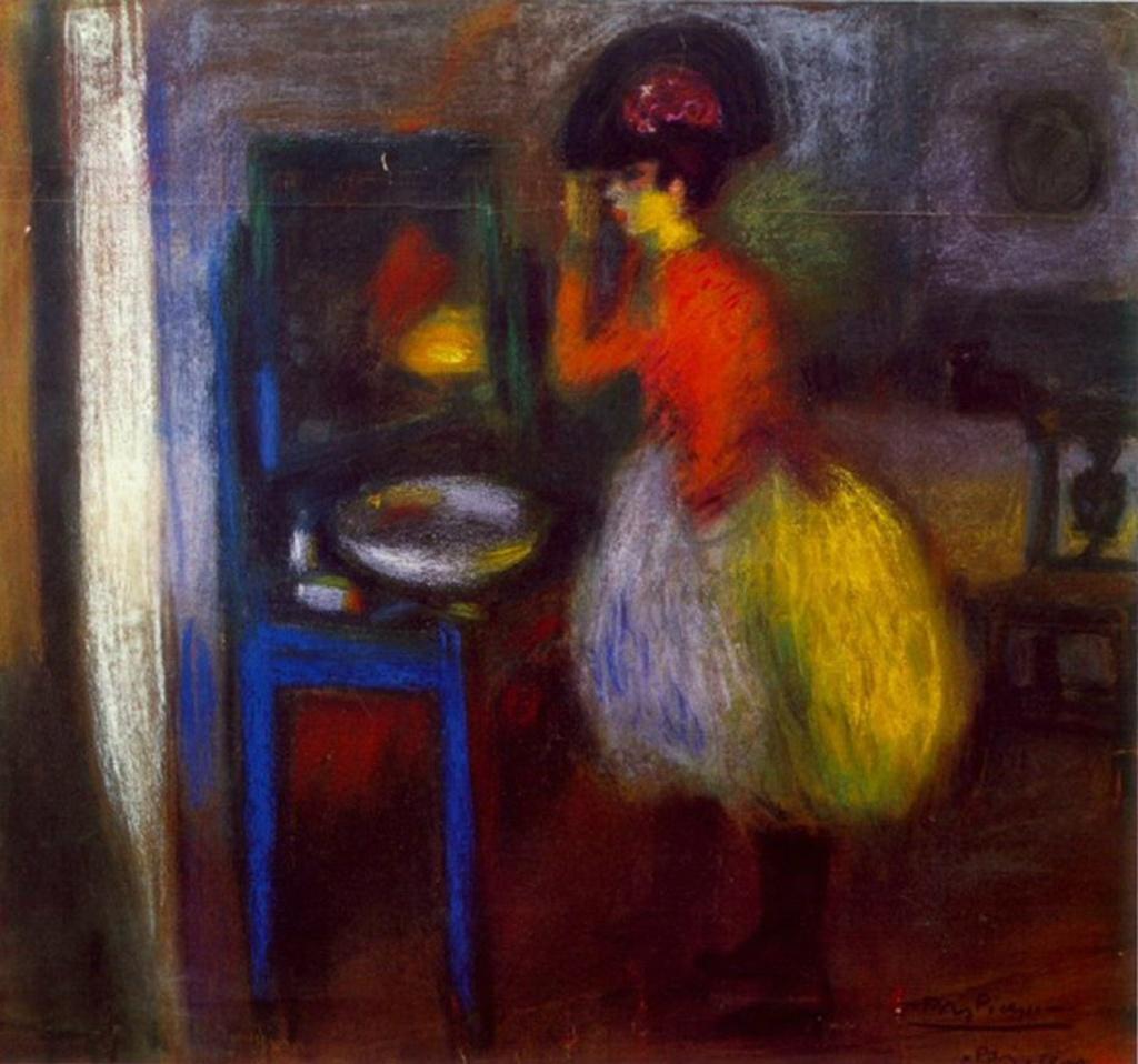 """Пабло Пикассо. """"В ложе"""". 1900."""