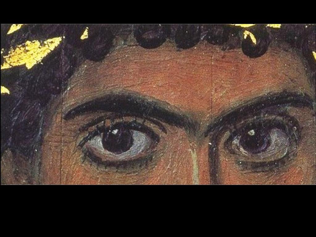 """Глаза на портрете """"Юноши в золотом венке"""". Между этим юношей и нами протекло около двух тысячелетий..."""
