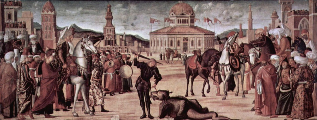 """Витторе Карпаччо. """"Триумф святого Георгия"""". 1502-1507.  Венеция. Scuola di San Giorgio degli Schiavoni."""
