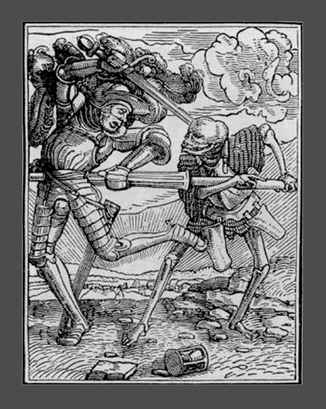 """Ганс Гольбейн Младший. """"Пляска Смерти"""". 1526 год - создание. 1538 - публикация. """"Рыцарь"""""""