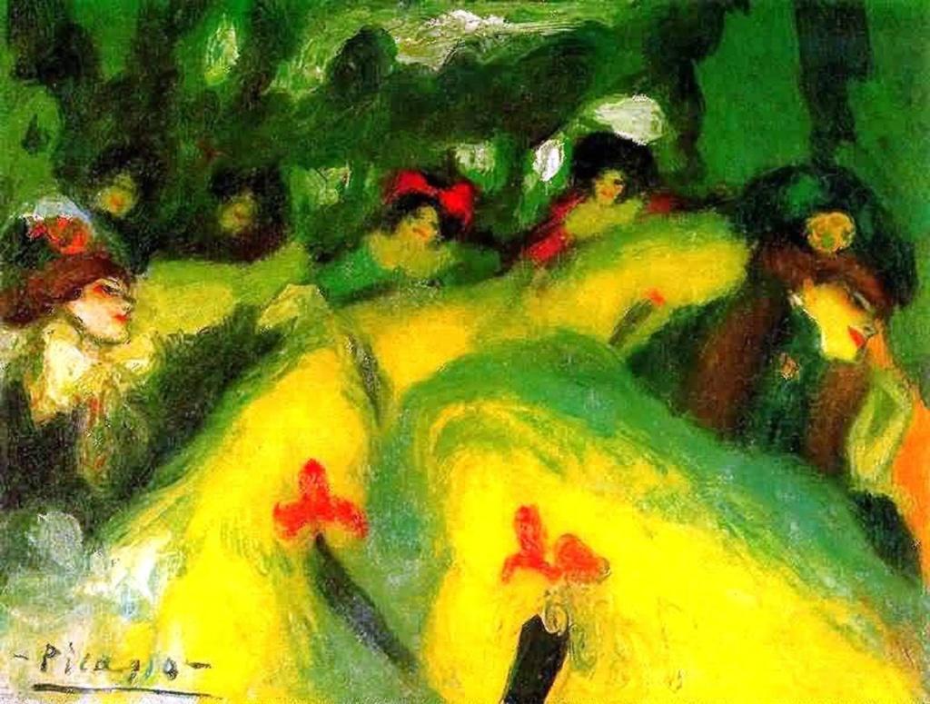 """Пабло Пикассо. """"Парижский канкан"""". 1901."""