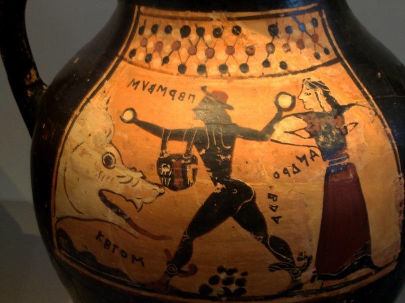 """Коринфская ваза: """"Персей, Андромеда, Кето"""". Одно из самых ранних изображений мифа о Персее в истории культуры Древней Греции"""