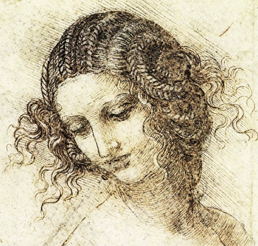 ЛЕОНАРДО ДА ВИНЧИ. Карандашный портрет девушки, в котором воплощена необоримая НЕЖНОСТЬ. Привела специально, не заканчивать же рассказ какими-то непостижимыми, но явно зловещими, ТАЙНАМИ ...