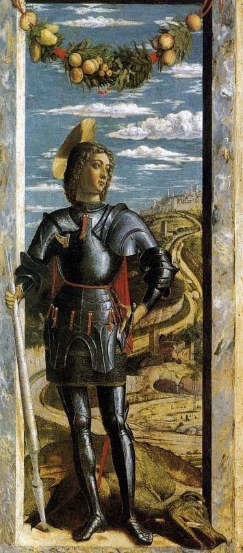 "XV ВЕК. Италия. Падуанская школа. Андреа Мантенья. ""Св.Георгий"". 1446."