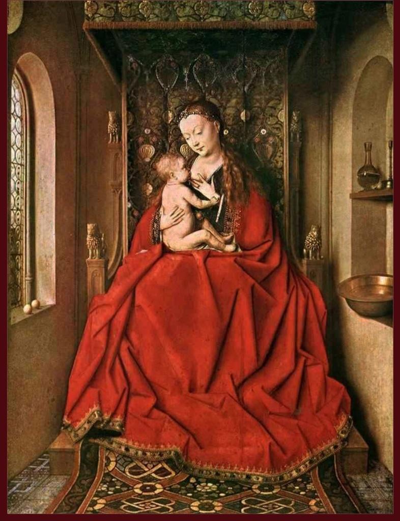 Мадонна и Ребенок (Lucca Madonna, Кормящая Мадонна). 1436. Штедель, Франкфурт.