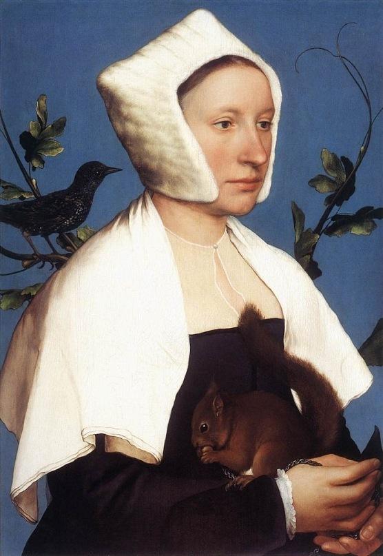 Ганс Гольбейн Младший. Портрет дамы с белкой. Лондон. 1526-1528