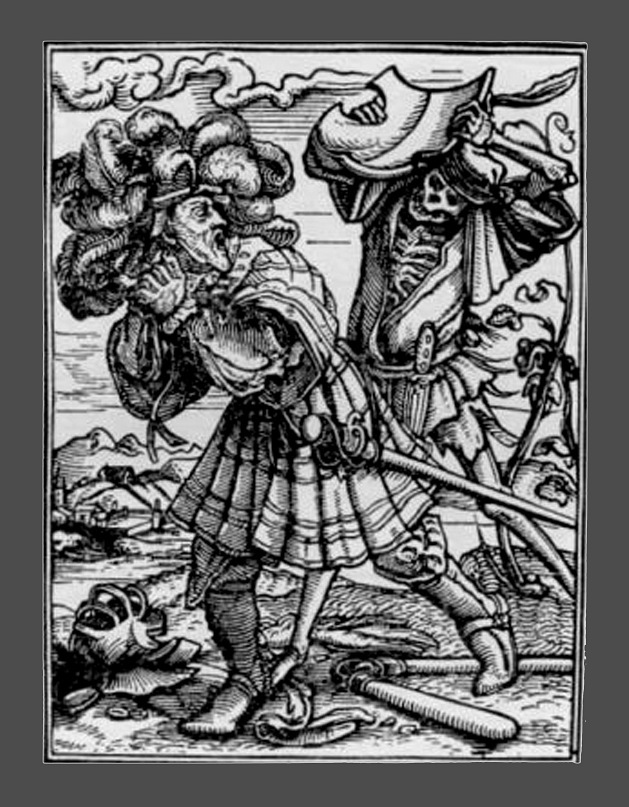 """Ганс Гольбейн Младший. """"Пляска Смерти"""". 1526 год - создание. 1538 - публикация. """"Граф"""""""