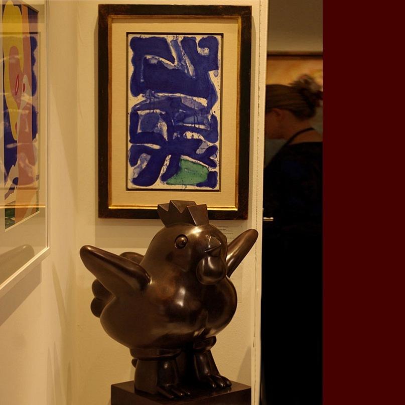 """Экспонаты выставки-ярмарки """"Арт-Базель - 2010"""". Авторов работ не знаю: организаторы выставки не любят себя утруждать. Понятно - столько экспонатов, столько посетителей, трудно заботиться сразу о тех и других."""