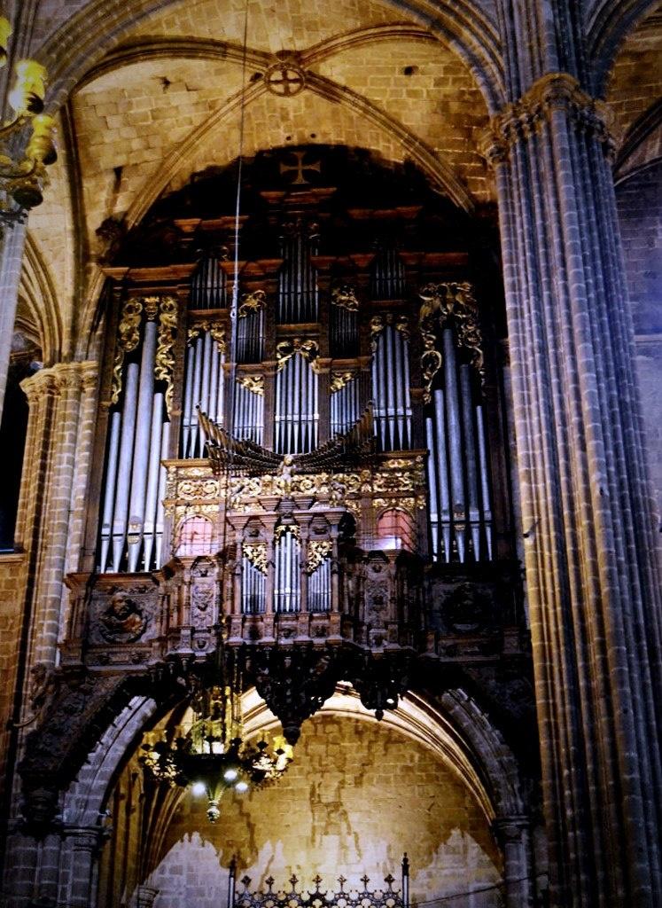 Орган Кафедрального собора Барселоны. Пусть звучит музыка - начинаем рассказ об Ордене Золотого Руна...