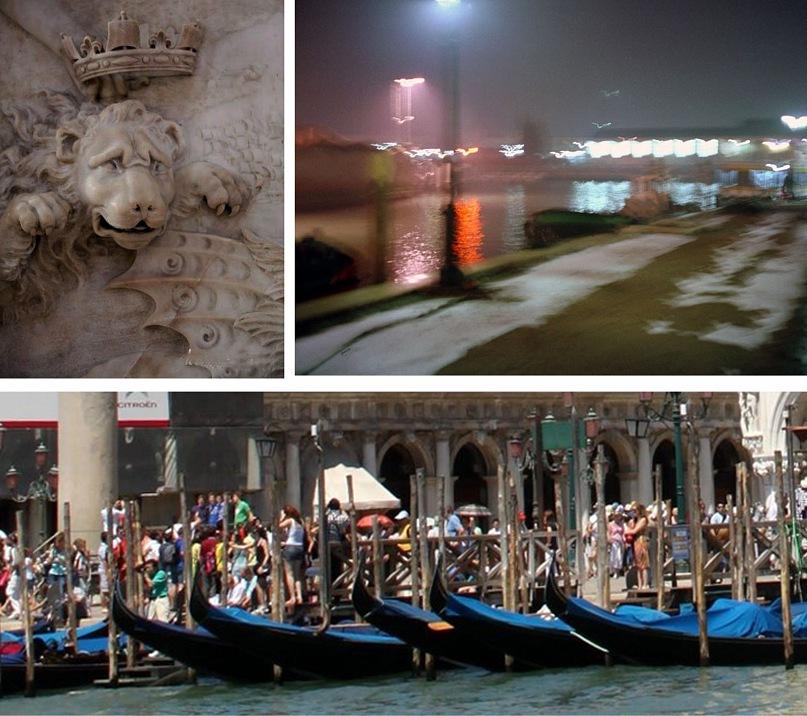 Венецианский лев, увенчиваемый короной Славы. Вибрация стоячего воздуха на венецианских набережных. Теснота на улицах, площадях и каналах, по-настоящему летняя.