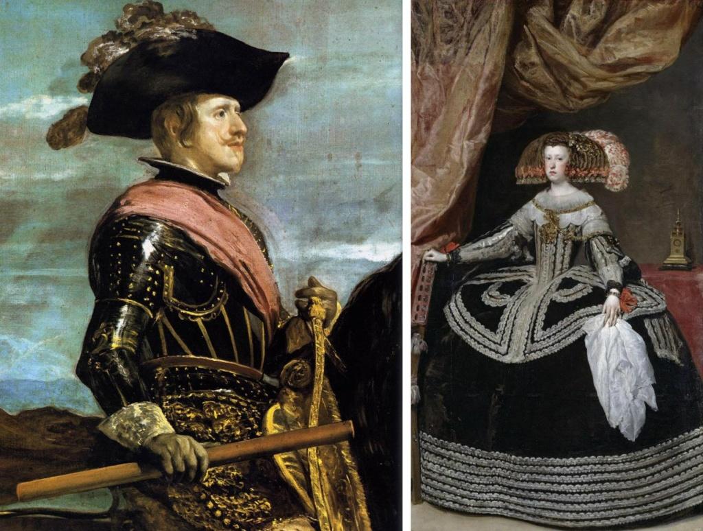 Филипп IV (фрагмент конного портрета короля кисти Веласкеса )Диего Веласкес. Марианна Австрийская - вторая супруга Филиппа IV