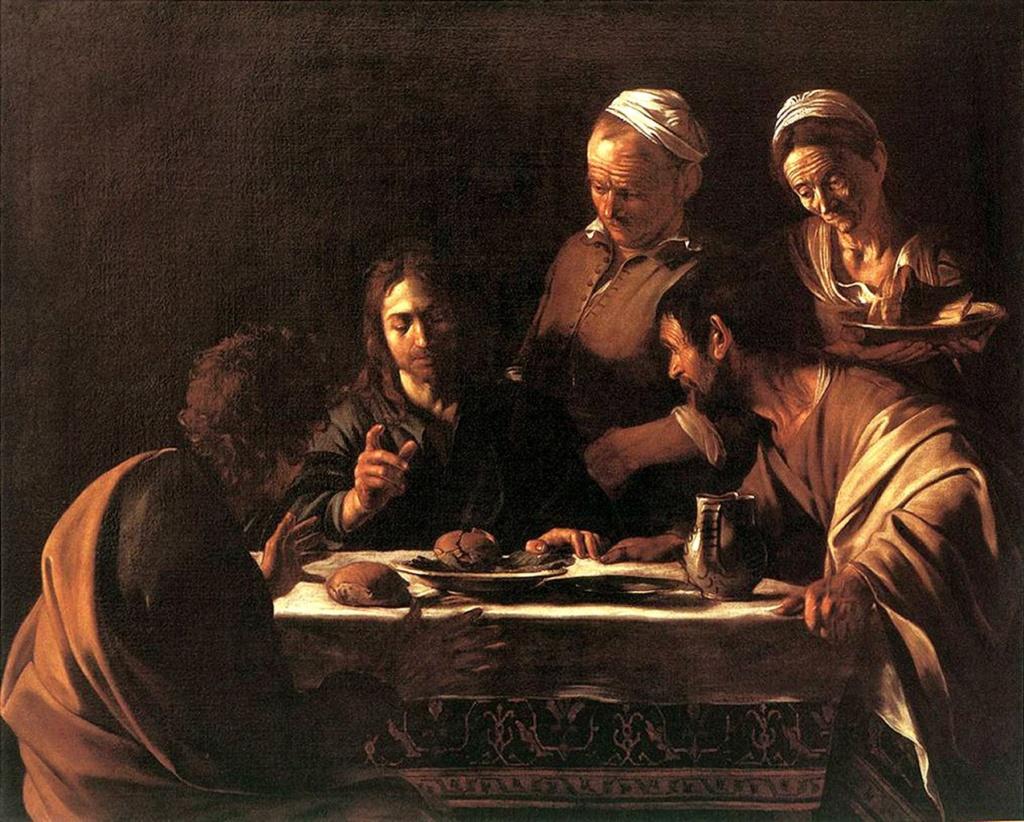 Караваджо. «Ужин в Эммаусе». 1606. Пинакотеке Брера, Милан.