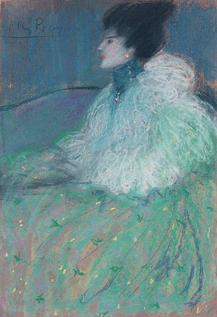 """Пабло Пикассо. """"Женщина в зеленом"""". 1901."""