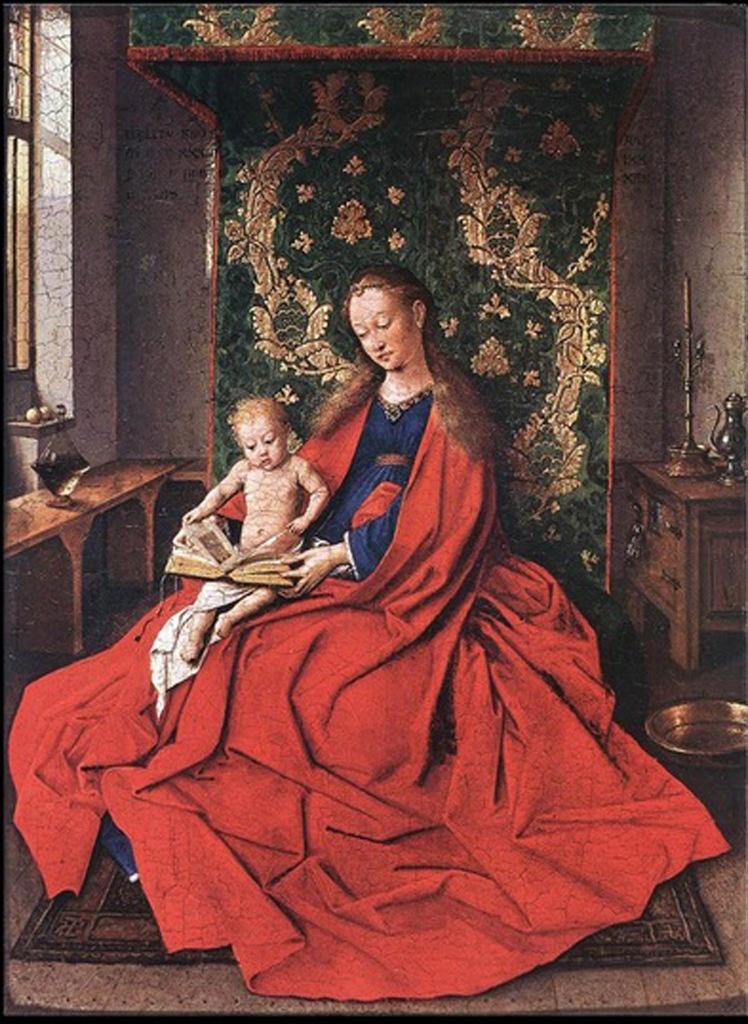 Ян ван Эйк. Мадонна с Читающим Ребенком. 1433. Викторианская Национальная галерея, Мельбурн.