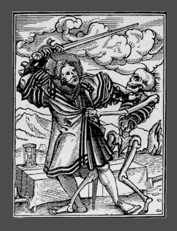 """Ганс Гольбейн Младший. """"Пляска Смерти"""". 1526 год - создание. 1538 - публикация. """"Дворянин"""""""