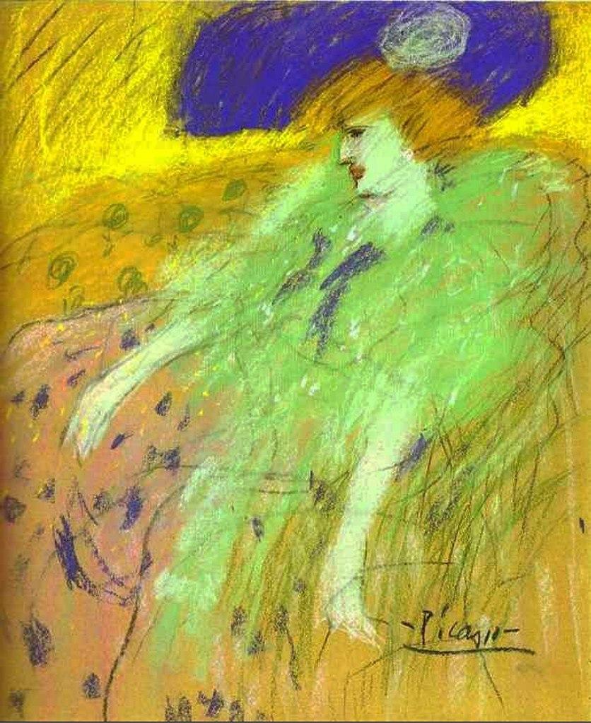 """Пабло Пикассо. """"Женщина в голубой шляпе"""". 1901."""