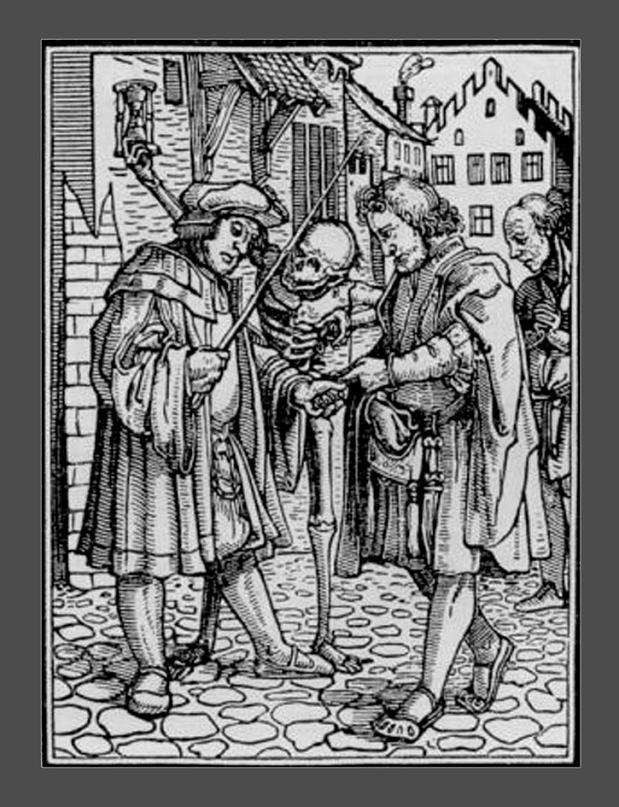 """Ганс Гольбейн Младший. """"Пляска Смерти"""". 1526 год - создание. 1538 - публикация. """"Адвокат"""""""