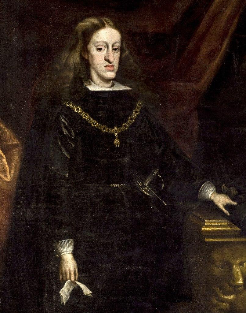 Карл II Габсбург, король Испании. Портрет работы испанского придворного живописца Хуана Карреньо де Миранда, 1681 год .