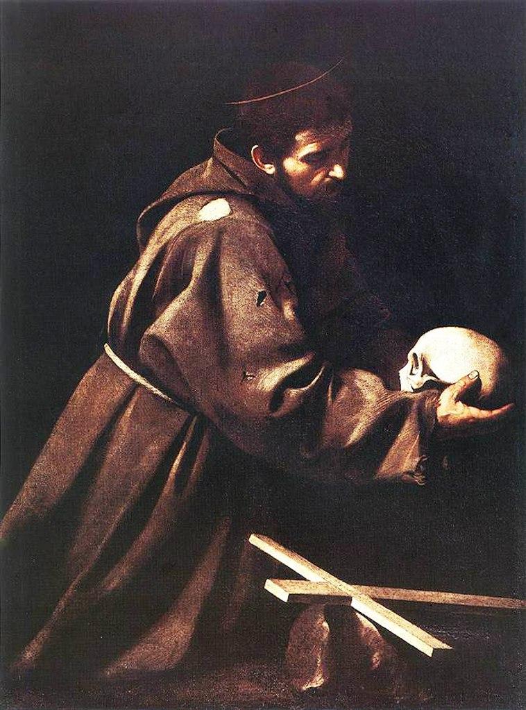 """Караваджо. """"Святой Франциск"""". 1606. На хранении  в Национальной галерее старого искусства, палаццо Барберини."""