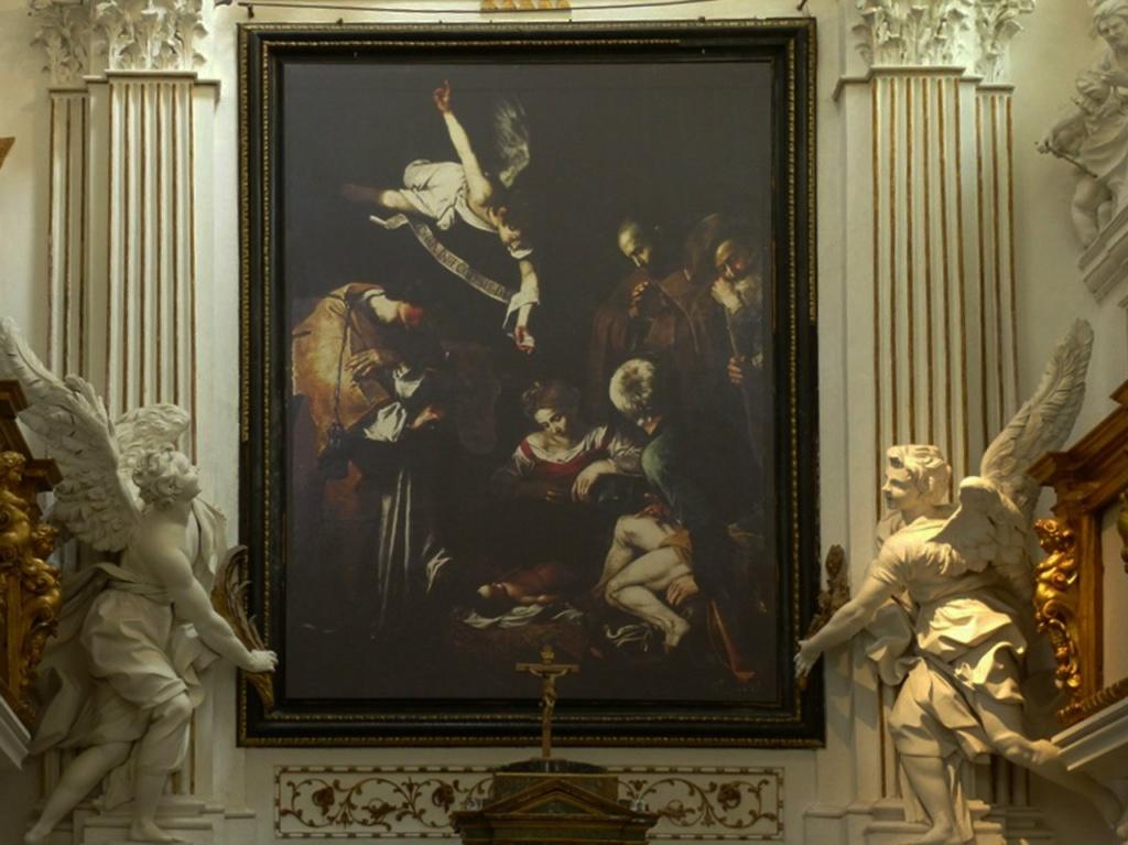 Караваджо «Рождество со святым Франциском и святым Лаврентием», 1609, написана для часовни Сан Лоренцо в Палермо, в 1969 году украдена и заменена копией. Оценена экспертами в 20 миллионов долларов.